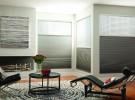 Gray sitting room shades