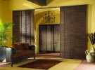 Home Woven Wood Shades in yellow room
