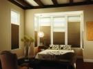 Tan bedroom shades