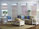 Woven Wood Shades in white room