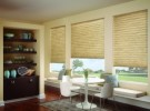 tan sitting room shades