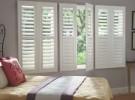 white shutters grey room