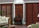 wood blinds in family room