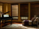 wood blinds in paino room